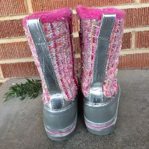 Ozark Trail Shoes - Ozark Trail Girls Pink Snow Boots Size 13